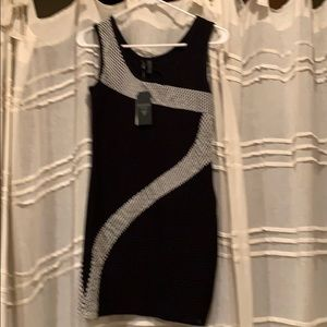 Black and White Bodycon dress by Guess